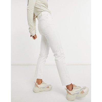Brave Soul – Fran – Mom-Jeans mit hohem Bund in Weiß-Blau   BRAVE SOUL SALE