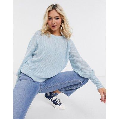 Brave Soul – Harrita – Pullover mit Ballonärmeln-Blau