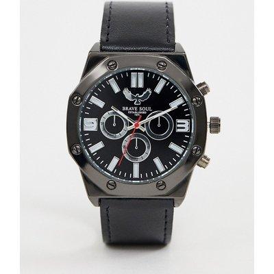 Brave Soul – Herrenchronograph mit schwarzem Armband