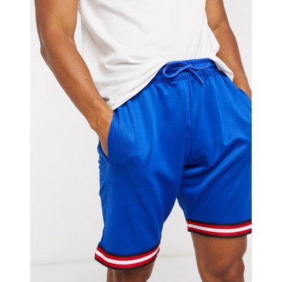 Brave Soul – Lockere Shorts mit Kontrastblende in Blau