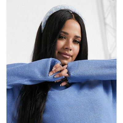 Brave Soul Plus – Detroit – Strick-Kapuzenpullover-Blau