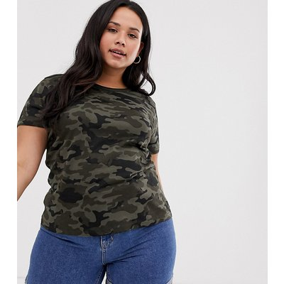 Brave Soul Plus – T-Shirt mit Military-Muster-Mehrfarbig