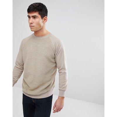 Brave Soul – Strukturiertes Sweatshirt mit Rundhalsausschnitt-Bronze