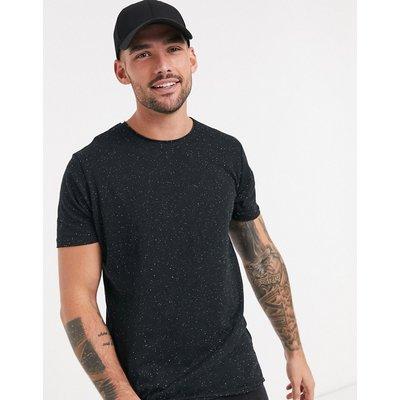 Brave Soul – T-Shirt in schwarzem Kalk