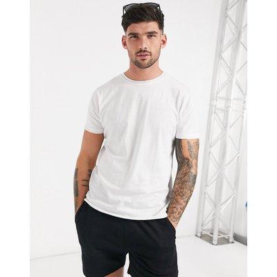 Brave Soul – Ungesäumtes, schmal geschnittenes T-Shirt in Weiß