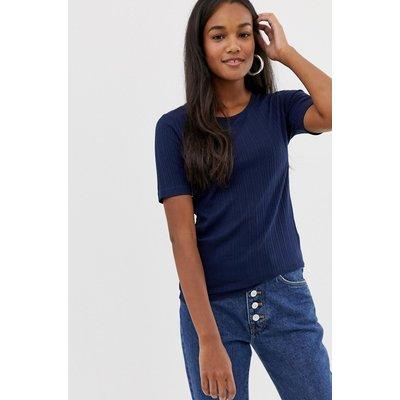 Brave Soul – Valerie – Geripptes T-Shirt-Blau
