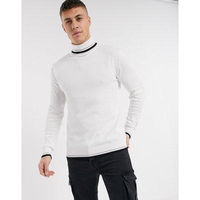 Brave Soul – Weißer Rollkragenpullover aus 100% Baumwolle