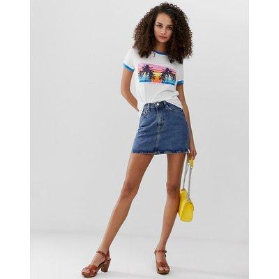 Brave Soul – Wikiki – Ringer-T- Shirt-Blau