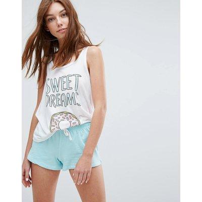 BRAVE SOUL Bravesoul – Sweet Dreams – Kurzes Pyjamaset-Weiß