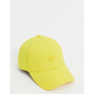 Calvin Klein – Gelbe Kappe mit Logostickerei