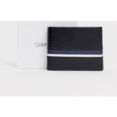 Calvin Klein – Gestreifte Geldbörse-Schwarz