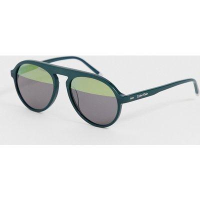 Calvin Klein – Grüne Pilotensonnenbrille