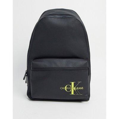 Calvin Klein Jeans – Campus – Backpack aus beschichteter Baumwolle, 45 l-Schwarz | CALVIN KLEIN SALE