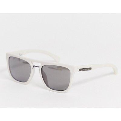 Calvin Klein Jeans – Eckige Sonnenbrille-Weiß