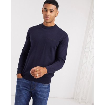 Calvin Klein Jeans – Institution – Pullover mit Logo auf der Brust-Navy