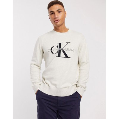 Calvin Klein Jeans – Pullover mit Monogramm-Grau