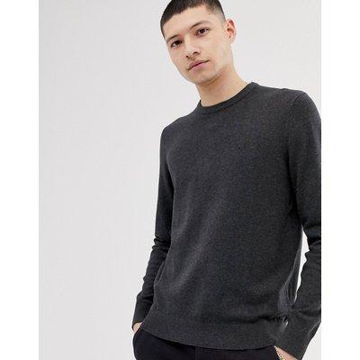 Calvin Klein Jeans – Pullover mit Rundhalsausschnitt und Logo auf der Brust-Grau