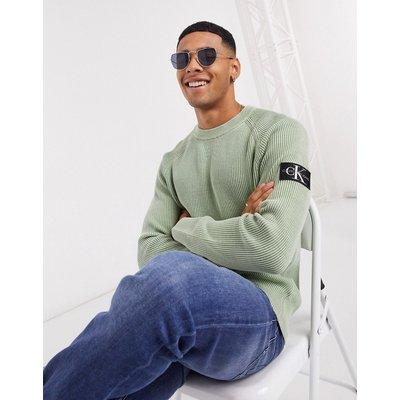 Calvin Klein Jeans – Überfärbter Pullover-Grün