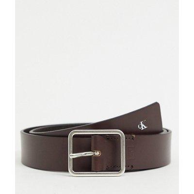 Calvin Klein Jeans – Uniform – Ledergürtel im Arbeiterstil, 35mm-Braun