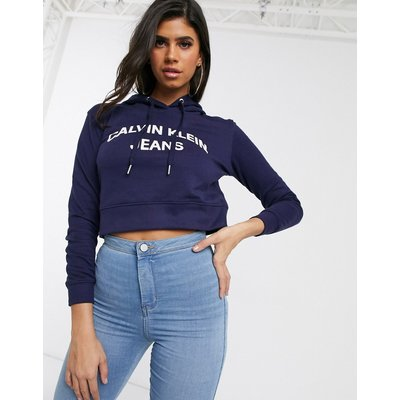 Calvin Klein – Kapuzenpullover mit Logo-Navy