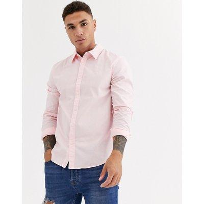 Calvin Klein – Langärmliges Popeline-Hemd-Rosa