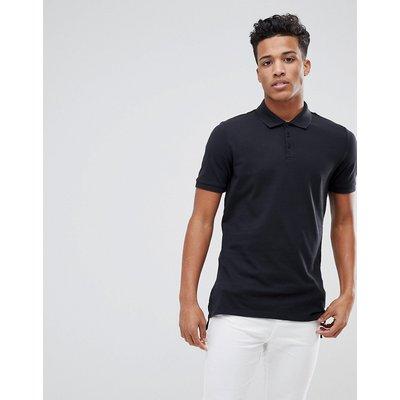 Calvin Klein – Langes Polohemd-Schwarz