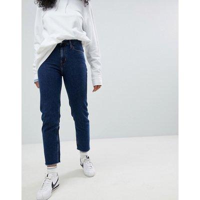 Calvin Klein – Mom-Jeans mit Fransensaum-Navy