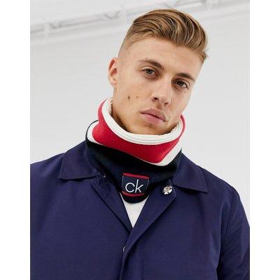 Calvin Klein – Rundschal mit Farbblockdesign-Navy