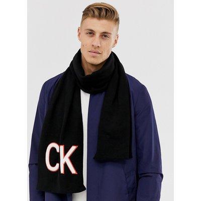 Calvin Klein – Schal aus Frottee-Schwarz
