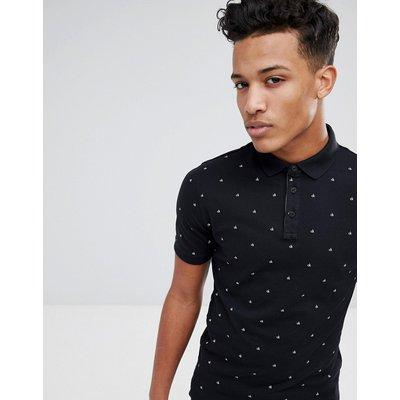 Calvin Klein – Schmal geschnittenes Polohemd-Schwarz