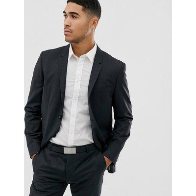 Calvin Klein – Strukturierte, schmale Anzugjacke-Schwarz