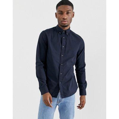 Calvin Klein – Verwaschenes Oxford-Hemd mit Button-down-Kragen-Navy