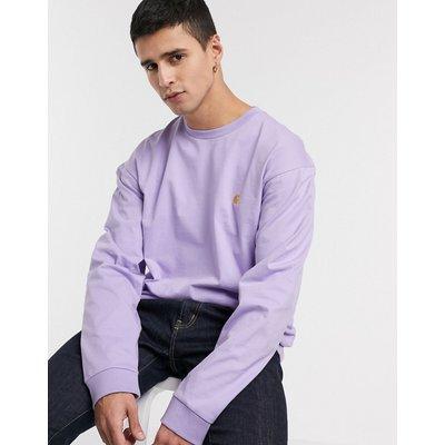 Carhartt WIP – Chase – Langärmliges T-Shirt-Violett