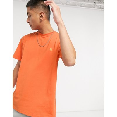 Carhartt WIP – Chase – T-Shirtin Uhrwerk & Gold-Orange