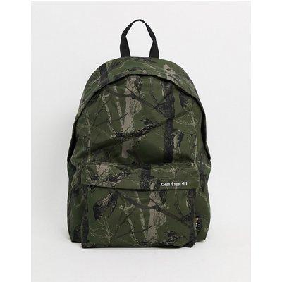 Carhartt WIP – Payton – Backpack mit Baum-Military-Muster in Grün und Weiß