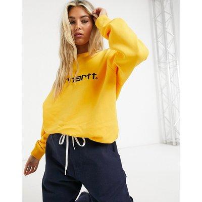 Carhartt WIP – Sweatshirt mit Logo in Sonnenblume und Schwarz-Gelb