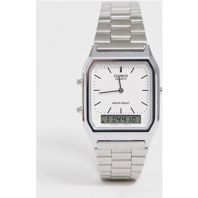 Casio – AQ-230A-7DMQ – Digitale Armbanduhr-Silber