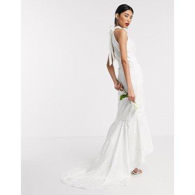 Chi Chi Bridal Adia maxi dress in white