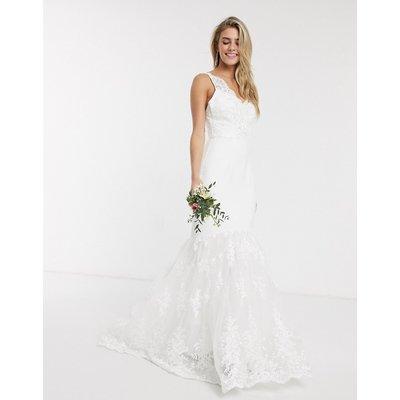 Chi Chi Bridal Suranne maxi dress with fishtail-White