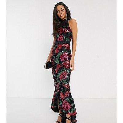 Chi Chi London Tall sequin embellished maxi dress in multi