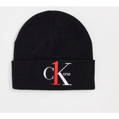 CALVIN KLEIN CK One – Schwarze Strickmütze