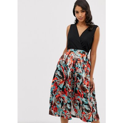 Closet 2 in 1 full skirt dress-Red