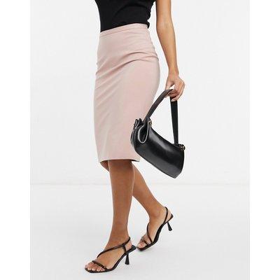 Closet London pencil midi skirt in dusty rose-Pink