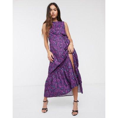 Closet pleat detail floral dress-Purple