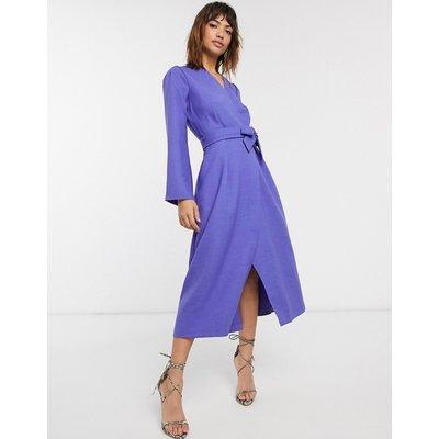 Closet pleated sleeve dress-Purple
