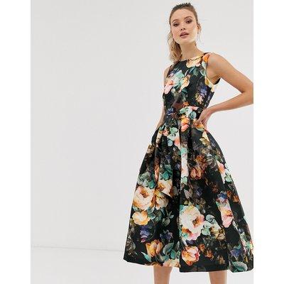 Closet v back full skirt dress-Black