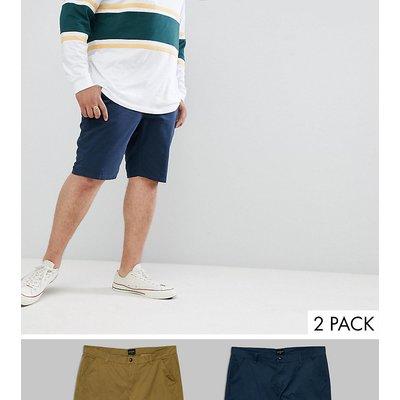D-Struct PLUS – Chino-Shorts, 2er-Pack-Grün