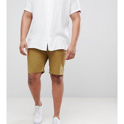 D-Struct PLUS – Chino-Shorts mit Umschlag-Grün