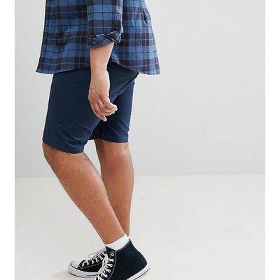 D-Struct PLUS – Chino-Shorts mit Umschlag-Navy