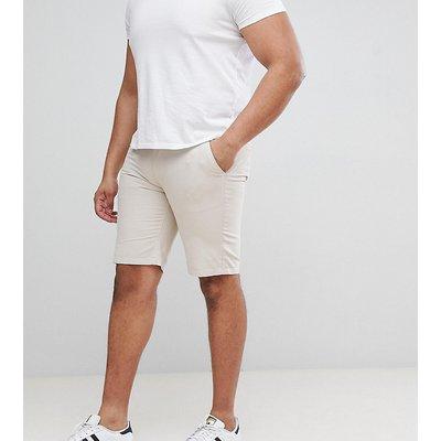 D-Struct PLUS – Chino-Shorts mit Umschlag-Steingrau
